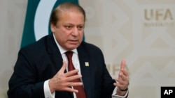FILE - Pakistani Prime Minister Nawaz Sharif will meet with King Salman on Monday in Riyadh and with Iranian President Hassan Rouhani on Tuesday in Tehran.