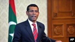 马尔代夫前总统纳希德 (资料图片)