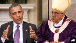 Tổng thống Obama phát biểu trong cuộc hội kiến với Ðức Giáo Hoàng tại Vatican.