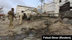 Olayın ardından bölgeyi kordona alan Somali polisi