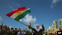 Newroz with Kurdish flag