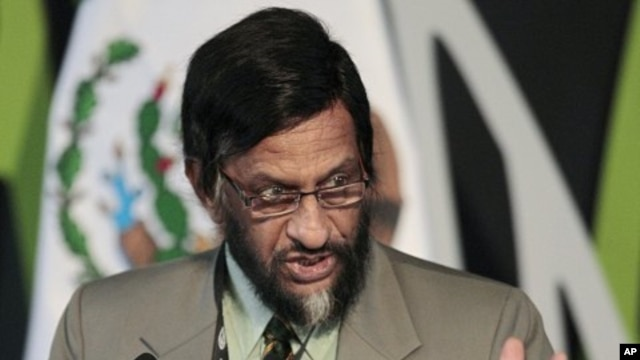 Rajendra Kumar Pachauri, chairman of the Intergovernmental Panel on Climate Change, speaks during the opening of the Green Solutions @ COP16 in Cancun. (File Photo)