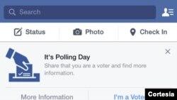 Por primera vez en Gran Bretaña los usuarios de facebook pueden compartir son sus amigos que salieron a votar.
