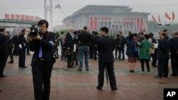 Periodistas internacionales asisten al Congreso del Partido de los Trabajadores en Corea del Norte.