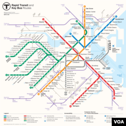 This is a breakdown of Boston's subway and bus system.
