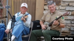 Clyde Davenport and Bobby Fulcher play at Pickett State Park Old Timers Day, Sept. 3, 2006. (Courtesy: Bobby Fulcher)