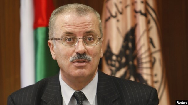 Rami Hamdallah, president of al-Najah National University, speaks during a meeting at the university in the West Bank city of Nablus. (File)