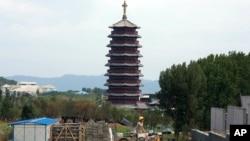 北京郊外的亚太经合组织(APEC)领导人北京峰会举行地点(2014年8月5日)