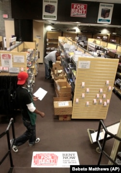 In this October 22, 2010 photo, student rental textbooks are stocked at the City College Bookstore in New York.