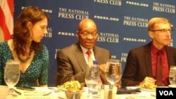 FILE: President of South Africa Jacob Zuma preparing to speak at the National Press Club, USA.