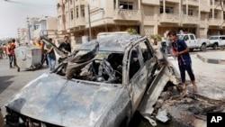 组图:巴格达发生系列袭击 几十人丧生