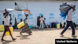 Refugiados do Sudão do Sul no Uganda.