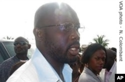 George Weah during 2005 election campaign