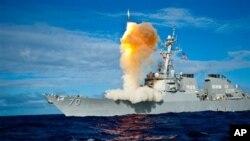 지난 2009년 미군이 하와이 인근 해상에서 실시한 단거리탄도미사일 요격 시험. (자료사진)