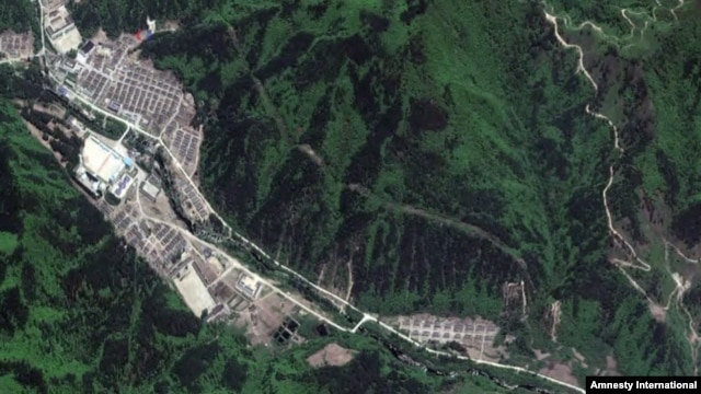 Satellite photo of North Korea's Camp 16.