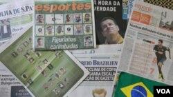 El entrenador brasileño Dunga estaba en la portada de todos los diarios brasileños el día donde debía anunciar la convocatoria, que fue transmitida en vivo desde Rio de Janeiro al país.