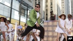 South Korean rapper Psy performs his massive K-pop hit 'Gangnam Style' live on NBC's 'Today' show in New York.