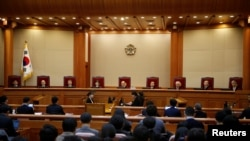 South Korea's Constitutional Court for President Park Geun-hye's impeachment trial