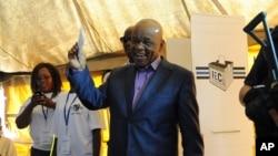 Le Premier ministre du Lesotho, Thomas Thabane, à Maseru, le 28 février 2015.