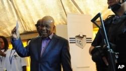 Le vainqueur des élections législatives anticipées Thomas Thabane, 28 février 2015.