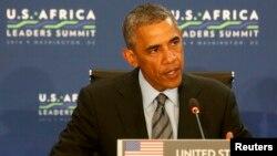 Američki predsednik Barak Obama trećeg dana Samita američko-afričkih lidera, 6. avgust 2014.