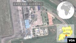 Entebbe ေလယာဥ္ကြင္းေျမပံု။
