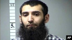 This undated photo provided by St. Charles County Department of Corrections via KMOV shows the Sayfullo Saipov.