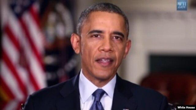 US President Barack Obama thanks America's veterans during his weekly radio address, Nov. 9, 2013 (whitehouse.gov)