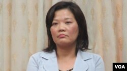 台湾陆委会副主委吴美红(美国之音张永泰拍摄)