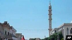 敘利亞示威者上個星期在霍姆斯附近舉行反對總統阿薩德的抗議活動
