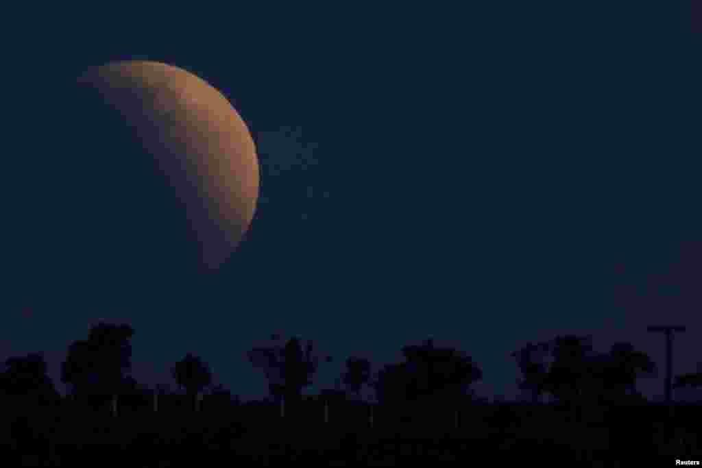 برازیل میں دکھائی دینے والے جُزوی چاند گرہن کا ایک اور منظر