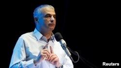 Moshe Kahlon prend la parole à Ofakim, Israël, le 29 mai 2017
