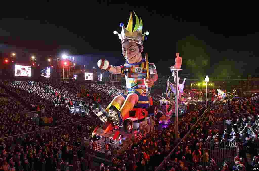 128-ий карнавал у місті Ніца, на півдні Франції, зібрав тисячі глядачів