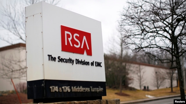 A sign marks the entrance to RAS's facility in Bedford, Massachusetts, March 28, 2014.