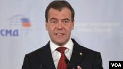 PM Rusia Dmitry Medvedev terpilih secara bulat sebagai Ketua Partai Rusia Bersatu (foto: dok).