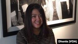 Irma Hardjakusumah, desainer ruang temporer asal Indonesia, perancang dekorasi ruang pesta Oscar untuk para bintang di Hollywood dalam Governors Ball 2016 (Foto: VOA/Dhania)
