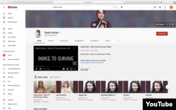 """Sarah Azhari YouTube channel, Featuring video song """"Dance to Survive"""" (courtesy: Sarah Azhari YouTube channel)."""