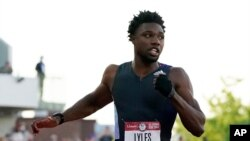 Noa Lajles takmiči se u trci na 100 metara 20. juna 2021. u Judzinu u Koloardu.