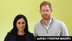 Le prince Harry et son épouse américaine, Meghan Markle le 24 février 2019.