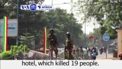 VOA60 Africa- Mali mourns after hotel attack that killed at least 19 people