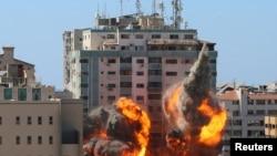 15 травня будинок, де розташовувались офіси Associated Press (AP) та Al Jazeera постраждав від авіаудару з боку Ізраїїлю