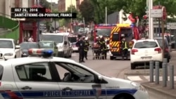 Scene of Church Attack in Normandy, France
