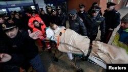 El incendio del transbordador italiano dejó siete muertos.