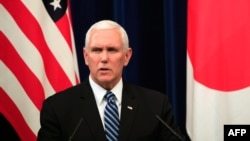 Phó TT Mỹ Mike Pence phát biểu tại Nhật Bản hôm 13/11 sau khi tham dự các cuộc hội đàm tại Thượng đỉnh ASEAN ở Singapore.