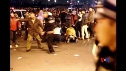 2015-01-01 美國之音視頻新聞: 上海外灘新年前夕發生踩踏至少35人死亡