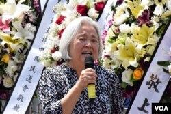 加拿大多倫多支持中國民主運動會主席吳溫溫。(美國之音湯惠芸攝)