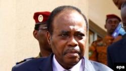 Edem Kodjo, facilitateur désigné par l'Union africaine pour le dialogue politique, 31 octobre 2014