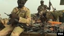 Des soldats tchadiens lors d'une offensive contre le groupe Boko Haram, le 19 mai 2015