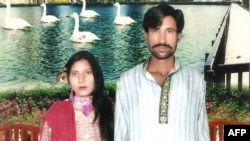 FILE - Shama Shahzad, left, and Shahzad Masih and were burned alive in an industrial kiln in 2014.