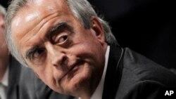 FILE - Nestor Cervero, financial director of Petrobras' fuel distribution subsidiary, Dec. 2, 2014